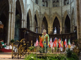 Messe du bicentenaire, célébrée par l`archevêque de Bordeaux Monseigneur Ricard